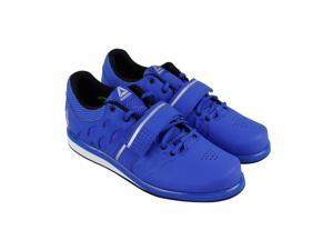 0da45fb39bc562 Reebok Lifter Pr Vital Blue Black Pure Silver Mens Athletic Training Shoes