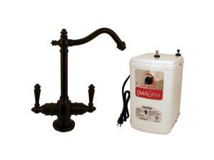 Westbrass D205HFP-12 9 in. Victorian Hot & Cold Water Dispenser & Tank in Oil Rubbed Bronze