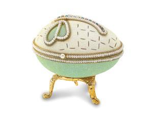 """Lux by Jere Authentic Goose Egg """"Happy"""" Crystal Dragonfly Music Box"""
