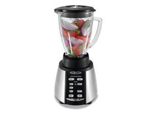 Oster Reversing Motor Blender and Food Processor Counterforms Blender, with 6-Cup Glass Jar, 7-Speed Settings and Brushed Stainless Steel/Black Finish