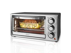 Oster Toaster Oven - 1300 W - Toast, Convection, Browning, Bake, Broil - Gray