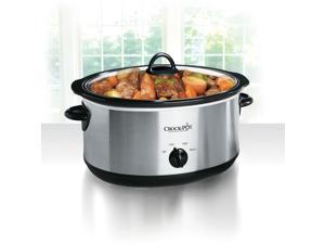 Crock-Pot 8.0-Quart Slow Cooker, Manual, Stainless Steel SCV800-S