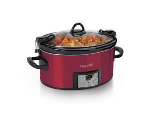 Crock-Pot 6.0-Quart Cook & Carry™ Slow Cooker, Programmable, Red SCCPVL610-R-A