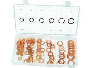Swordfish - 31740 110pc Copper/Flat Washer Ring Assortment