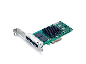 NIC Padarsey Intel 82580 Chipset I340-T4 E1G44HT 1G Gigabit Ethernet Network Adapter PCI Express 2.0 X4 Quad Copper RJ45 Ports