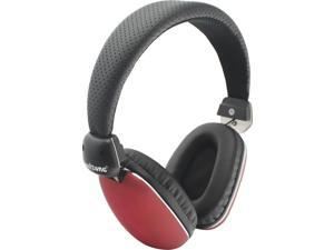 Soulzone Rockin Stereo Headphones with Inline Mic for Music and Phone Calls (Red)