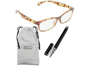 True Gear iShield Anti Reflective Coated Reading Glasses - Traditional Style (+1.25) - Yellow Demi