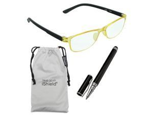 True Gear iShield Anti Reflective Coated Reading Glasses - Ultra Thin Frame (+1.50) - Yellow/Black