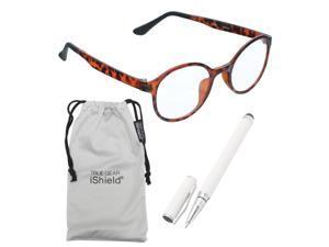 True Gear iShield Anti Reflective Coated Reading Glasses - Round Frame (+3.00) - Demi
