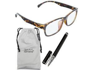True Gear iShield Anti Reflective Coated Reading Glasses - Classic Full Frame (+3.00) - Demi