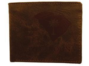 True Gear Men's State Wallets - South Carolina (Dark Brown)