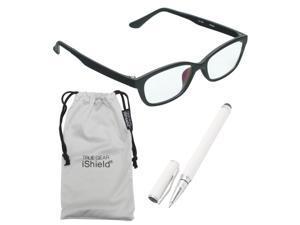 True Gear iShield Anti Reflective Reading Glasses - Matte Frame (+3.00) - Black