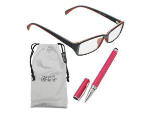 True Gear iShield Anti Reflective Reading Glasses - Double Injection Modern Style (+2.50) - Black with Red