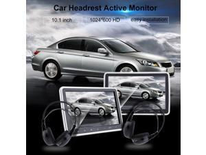NEW 2 PCS 10.1 Inch Touch Screen Car Headrest Active Monitor Portable HDMI LCD Vehicle DVD Player With Game Headsets US