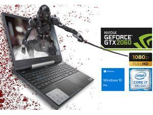 "Dell G5 5590 Gaming Notebook, 15.6"" FHD Display, Intel Core i7-9750H Upto 4.5GHz, 8GB RAM, 256GB NVMe SSD, NVIDIA GeForce RTX 2060, HDMI, Mini DisplayPort, Thunderbolt, Wi-Fi, BT, Windows 10 Pro"