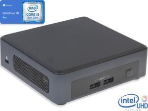 Intel NUC8I3PNK Mini PC, Intel Core i3-8145U Upto 3.9GHz, 8GB RAM, 256GB NVMe SSD, HDMI, Thunderbolt, Wi-Fi, Bluetooth, Windows 10 Pro