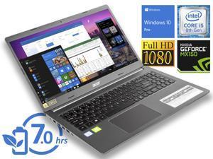 "Acer Aspire 5 Notebook, 15.6"" FHD Display, Intel Core i5-8265U Upto 3.9GHz, 8GB RAM, 128GB NVMe SSD, NVIDIA GeForce MX250, HDMI, Wi-Fi, Bluetooth, Windows 10 Pro"