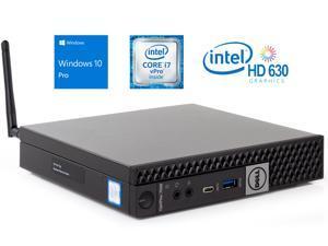 Dell OptiPlex 7050 Micro Desktop, Intel Quad-Core i7-7700T Upto 3.8GHz, 16GB RAM, 512GB SSD, HDMI, DisplayPort, Wi-Fi, Bluetooth, Windows 10 Pro