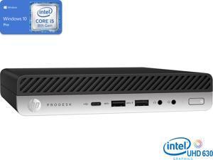 HP ProDesk 600 G4 Mini PC, Intel Core i5-8600T Upto 3.7GHz, 8GB RAM, 256GB NVMe SSD, DisplayPort, VGA, Wi-Fi, Bluetooth, Windows 10 Pro (1B231UT)