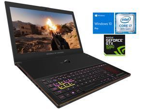 "ASUS ROG Zephyrus Gaming Notebook, 15.6"" IPS 144Hz FHD Display, Intel 6-Core i7-8750H Upto 4.1GHz, NVIDIA GTX 1080 8GB, 8GB RAM, 256GB NVMe SSD, Backlit Keyboard, Wi-Fi, Bluetooth, Windows 10 Pro"