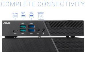 ASUS PB60G Mini PC, Intel Core i5-8400T Upto 3.3GHz, 16GB RAM, 256GB NVMe SSD, NVIDIA Quadro P620, Mini DisplayPort, HDMI, DisplayPort, Wi-Fi, Bluetooth, Windows 10 Pro
