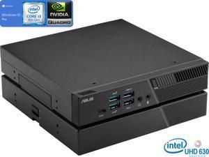 ASUS PB60G Mini PC, Intel Core i3-8100T 3.1GHz, 32GB RAM, 512GB NVMe SSD, NVIDIA Quadro P620, HDMI, DisplayPort, Mini DisplayPort, Wi-Fi, Bluetooth, Windows 10 Pro