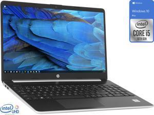 "HP 15 Notebook, 15.6"" HD Display, Intel Core i5-1035G1 Upto 3.6GHz, 8GB RAM, 256GB NVMe SSD, HDMI, Card Reader, Wi-Fi, Bluetooth, Windows 10 Pro"