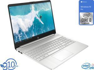 "HP 15 Notebook, 15.6"" HD Display, Intel Core i3-1005G1 Upto 3.4GHz, 8GB RAM, 256GB NVMe SSD, HDMI, Card Reader, Wi-Fi, Bluetooth, Windows 10 Pro"