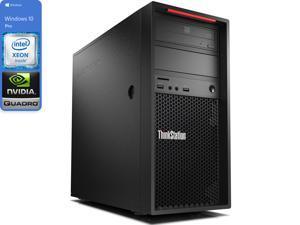Lenovo Thinkstation P520c Desktop, Intel Xeon W-2102 2.9GHz, 16GB RAM, 256GB NVMe SSD + 1TB HDD, NVIDIA Quadro P1000, DVDRW, Mini DisplayPort, Wi-Fi, Bluetooth, Windows 10 Pro (30BXS1A600)