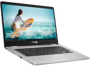 "ASUS C423NA Chromebook, 14"" HD Display, Intel Celeron N3350 Upto 2.4GHz, 4GB RAM, 32GB eMMC, DIsplayPort via USB-C, Card Reader, Wi-Fi, Bluetooth, Chrome OS (C423NA-BCLN5)"