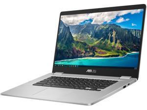 """ASUS C523 Chromebook, 15.6"""" HD Display, Intel Celeron N3350 Upto 2.4GHz, 4GB RAM, 32GB eMMC, DisplayPort via USB-C, Card Reader, Wi-Fi, Bluetooth, Chrome OS (C523NA-DH02)"""