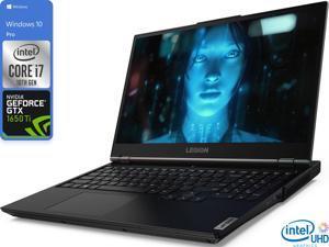 "Lenovo Legion 5 Gaming Notebook, 15.6"" 120Hz FHD Display, Intel Core i7-10750H Upto 5.0GHz, 8GB RAM, 128GB NVMe SSD, NVIDIA GeForce GTX 1650 Ti, HDMI, Wi-Fi, Bluetooth, Windows 10 Pro"