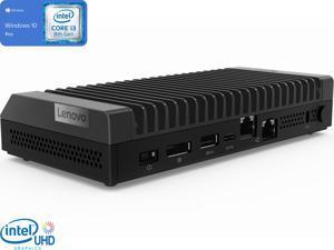Lenovo ThinkCentre M90n IoT Mini PC, Intel Core i3-8145U Upto 3.9GHz, 4GB RAM, 512GB NVMe SSD, DisplayPort, Wi-Fi, Bluetooth, Windows 10 Pro