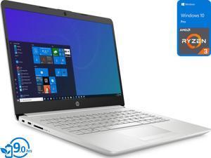 "HP 14 Notebook, 14"" HD Display, AMD Ryzen 3 3250U Upto 3.5GHz, 8GB RAM, 128GB SSD, Vega 3, HDMI, Card Reader, Wi-Fi, Bluetooth, Windows 10 Pro"