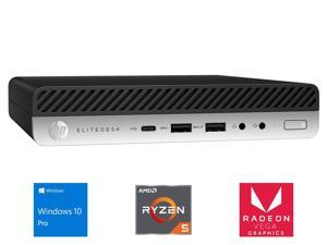 HP EliteDesk 705 G4 Mini PC, AMD Ryzen 5 2400GE Upto 3.8GHz, 8GB RAM, 256GB NVMe SSD, DisplayPort, Wi-Fi, Bluetooth, Windows 10 Pro (4HX42UT)
