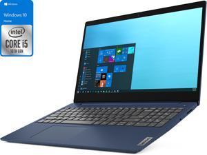 "Lenovo IdeaPad 3 Notebook, 15.6"" HD Touch Display, Intel Core i5-10210U Upto 4.2GHz, 8GB RAM, 256GB NVMe SSD, HDMI, Card Reader, Wi-Fi, Bluetooth, Windows 10 Home (81WR000BUS)"