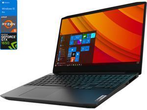 "Lenovo IdeaPad 3 Gaming Notebook, 15.6"" 120Hz FHD Display, AMD Ryzen 5 4600H Upto 4.0GHz, 16GB RAM, 256GB NVMe SSD, NVIDIA GeForce GTX 1650, HDMI, Wi-Fi, Bluetooth, Windows 10 Pro"