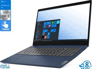 "Lenovo IdeaPad 3 Notebook, 15.6"" HD Touch Display, Intel Core i3-10110U Upto 4.1GHz, 8GB RAM, 256GB NVMe SSD, HDMI, Card Reader, Wi-Fi, Bluetooth, Windows 10 Pro S"
