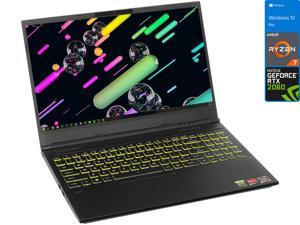 "EVOO Gaming Notebook, 15.6"" 120Hz FHD Display, AMD Ryzen 7 4800H Upto 4.2GHz, 32GB RAM, 512GB NVMe SSD, NVIDIA GeForce RTX 2060, Mini DisplayPort, HDMI, Card Reader, Wi-Fi, Bluetooth, Windows 10 Pro"