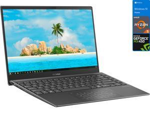 "ASUS Zenbook Q Laptop, 14"" FHD Display, AMD Ryzen 5 5500U Upto 4.0GHz, 8GB RAM, 256GB NVMe SSD, NVIDIA GeForce MX450, HDMI, Card Reader, Wi-Fi, Bluetooth, Windows 10 Home (Q408UG-211.BL)"