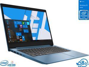 "Lenovo IdeaPad 1 Laptop, 14"" HD Display, Intel Celeron N4020 Upto 2.8GHz, 4GB RAM, 64GB eMMC, HDMI, Card Reader, Wi-Fi, Bluetooth, Windows 10 Home S (81VU0079US)"