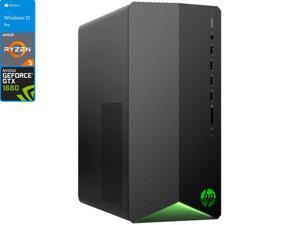 HP Pavilion TG01 Gaming Desktop, AMD Ryzen 5 5600G Upto 4.4GHz, 32GB RAM, 2TB NVMe SSD, NVIDIA GeForce GTX 1660 Super, HDMI, DisplayPort, DVI, Wi-Fi, Bluetooth, Windows 10 Pro