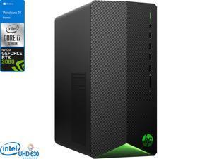HP Pavilion TG01 Gaming Desktop, Intel Core i7-10700 Upto 4.8GHz, 16GB RAM, 512GB NVMe SSD, NVIDIA GeForce RTX 3060, HDMI, DisplayPort, Card Reader, Wi-Fi, Bluetooth, Windows 10 Home (8MP64AV_1)