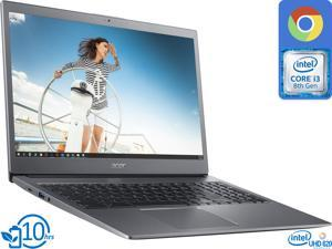 "Acer 715 Chromebook, 15.6"" IPS FHD Display, Intel Core i3-8130U Upto 3.4GHz, 4GB RAM, 128GB eMMC, DisplayPort over USB-C, Card Reader, Wi-Fi, Bluetooth, Chrome OS (NX.HB3AA.007)"