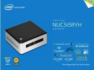 Intel Mini PC NUC, 5Th Gen Intel Core i5 up to 2.7Ghz, 8Gb DDR3, 1Tb Solid State Hybrid Drive, Wi-Fi, Bluetooth 4.0, with Power Adapter, Windows 10 Pro