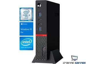 Lenovo ThinkCentre M900 Tiny Desktop, Intel Quad-Core i5-6500T 2.5GHz Upto 3.1GHz, 16GB DDR4, 256GB SSD, Display Port, Wifi, Bluetooth, Dual Monitor Capable, HD Graphics 530, Windows 10 Pro 64Bit
