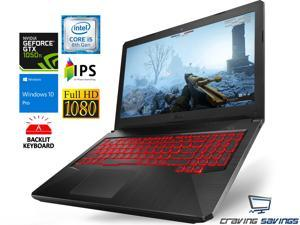 "ASUS TUF FX Series 15.6"" FHD IPSGaming Notebook, 8th Gen Intel Quad Core i5-83000H Upto 4.0GHz, 16GB DDR4, 512GB NVMe SSD Plus 1TB HDD, NVIDIA GeForce GTX 1050 Ti 4GB, Wifi, Bluetooth, Windows 10 Pro"