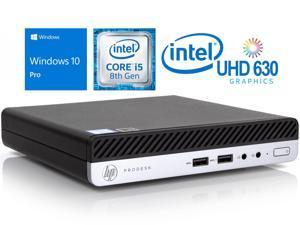 HP ProDesk 400 G4 Mini Desktop, Intel 6-Core i5-8500T Upto 3.5GHz, 8GB RAM, 256GB SSD, 2 x DisplayPort, Wi-Fi, Bluetooth, Windows 10 Pro
