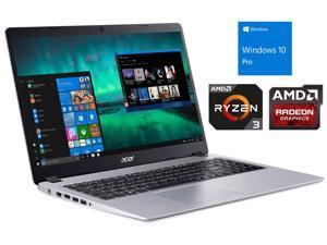 """Acer Aspire 5 Notebook, 15.6"""" FHD Display, AMD Ryzen 3 3200U Upto 3.5GHz, 16GB RAM, 256GB NVMe SSD + 1TB HDD, HDMI, Wi-Fi, Bluetooth, Windows 10 Pro"""