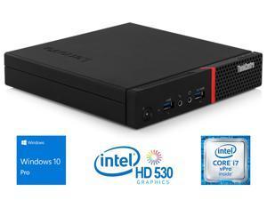 Lenovo ThinkCentre M900 Mini PC, Intel Core i7-6700T Up to 3.6 GHz, 16 GB RAM, 256 GB SSD, DisplayPort, Wi-Fi, Bluetooth, Windows 10 Pro